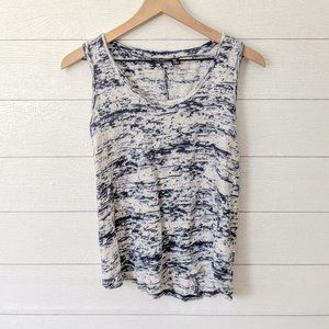 Willi Smith Space Dyed Linen Tank Top S